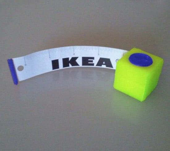 3D printed IKEA paper tape measure