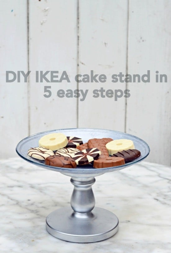 DIY IKEA cake stand in 5 easy steps