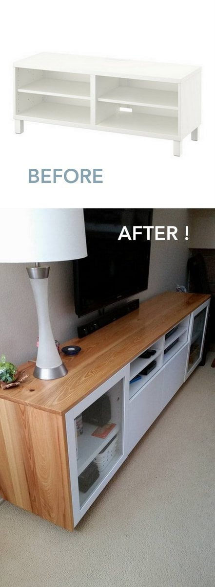 Wood you like to give your ikea best tv unit a new look for Ikea meuble tele
