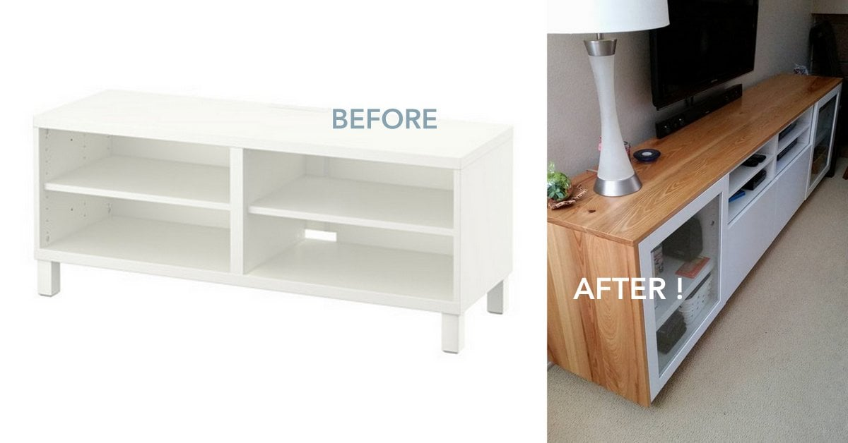 Wood You Like To Give Your IKEA BEST TV Unit A New Look