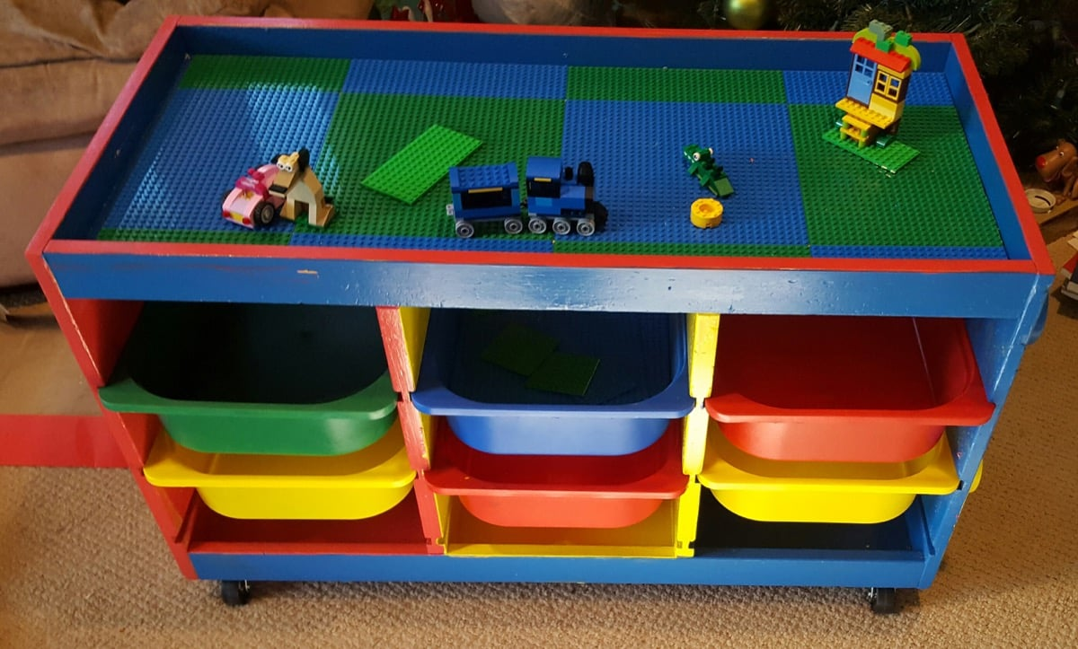 Trofast to lego table in one weekend ikea hackers ikea for Meuble lego
