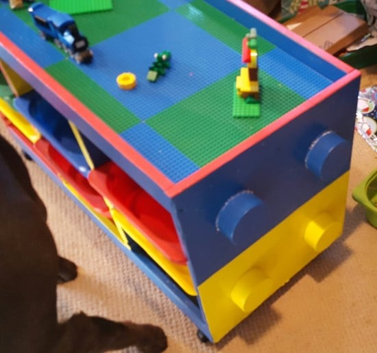 TROFAST LEGO table with decorative LEGO studs