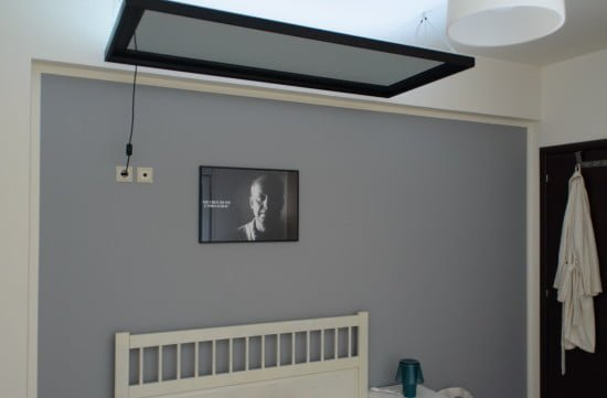 How to hang a HEMNES mirror above the bed