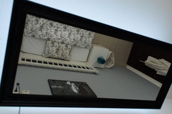 IKEA Hack - above the bed mirror