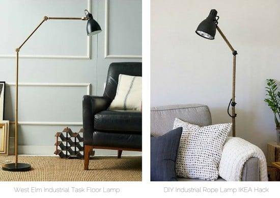 West Elm Inspired Ikea Arod Lamp Hack Decoration