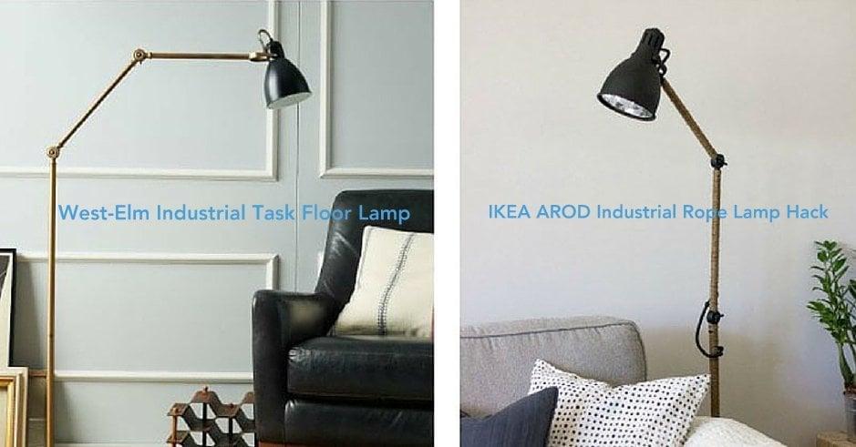 ikea floor lamps lighting. Fine Lighting West ElmInspired IKEA AROD Lamp Hack To Ikea Floor Lamps Lighting