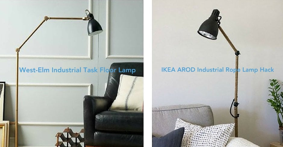 West Elm Inspired Ikea Arod Lamp Hack Ikea Hackers