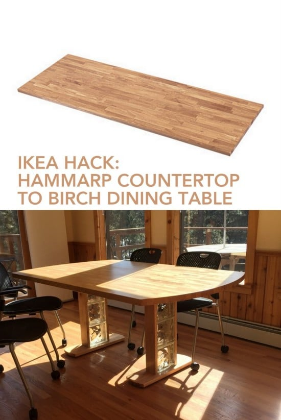 Birch Dining Table From Hammarp Countertop IKEA Hackers IKEA Hackers