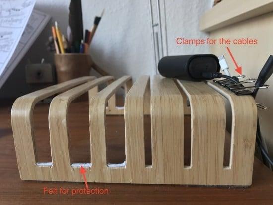 IKEA Rimforsa DIY Bamboo Tablet + Laptop holder