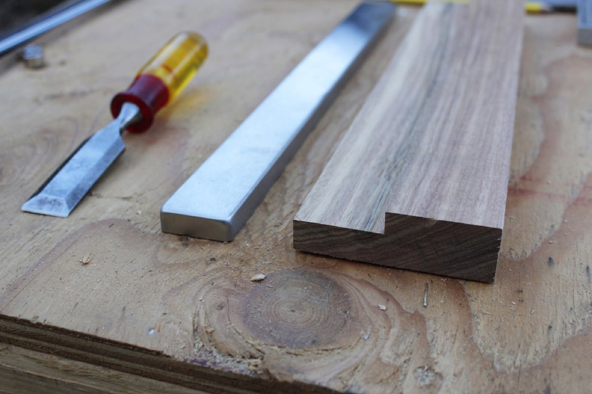 wood and steel magnetic knife rack ikea hackers ikea hackers. Black Bedroom Furniture Sets. Home Design Ideas
