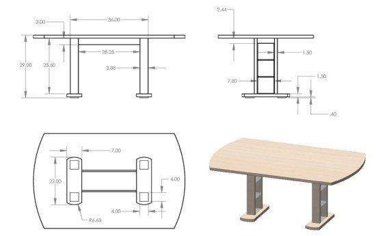 DIY birch dining table