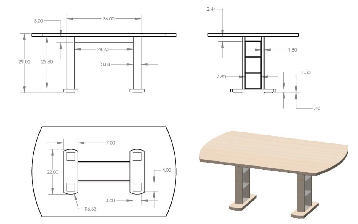 Birch Dining Table from Hammarp Countertop | IKEA Hackers | Bloglovin\'