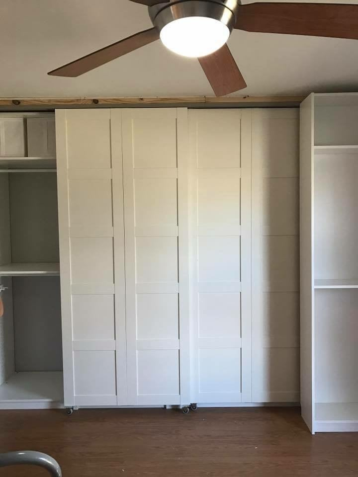 How To Hide It All When You Want To Match The Other IKEA Items You Have?  Turn Bergsbo Doors Into Sliding U201cbarnu201d Doors.