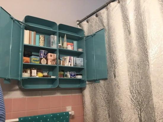 IKEA GUNNERN now a double bathroom cabinet - open