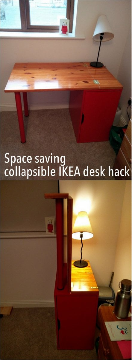 The Incredible Collapsing Office Desk: Hinged, Space-saving Linnmon/Alex Desk