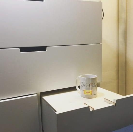 IKEA NORDLI hack: Drawers hiding useful tables