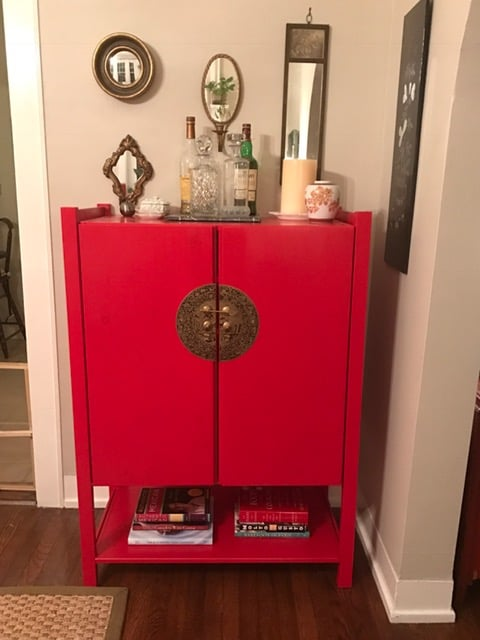 Ivar storage chinoiserie cabinet