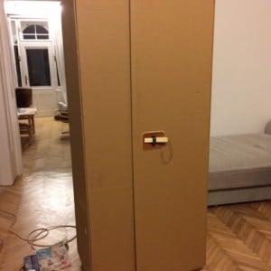 Cardboard cupboard IKEA hack