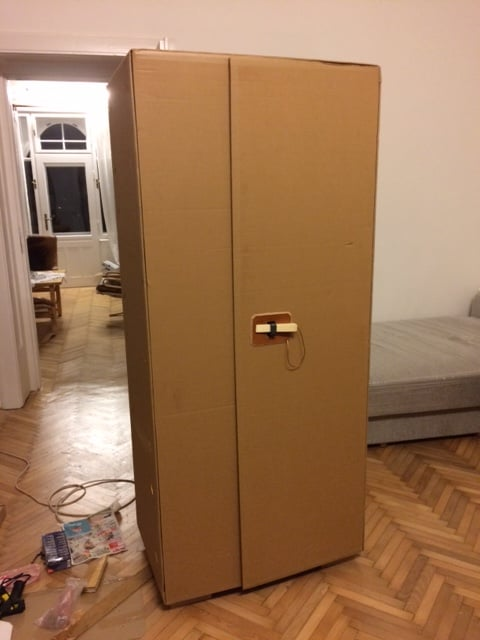 Cardboard Cupboard Sofa Packaging Ikea Hackers