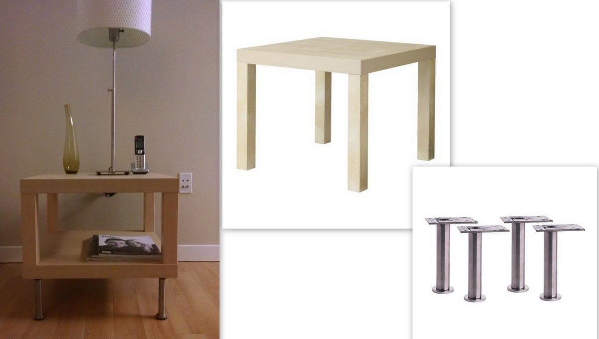 Lack side table with capita legs ikea hackers