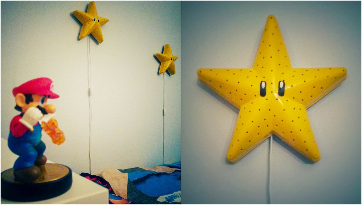 Make A Super Mario Bros Star Wall Lamp Ikea Hackers Ikea Hackers