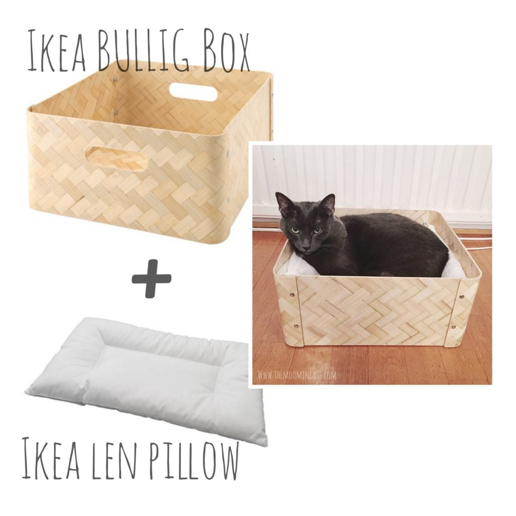 Simple ideas for cat beds ikea hackers ikea hackers for How to make a cat bed easy