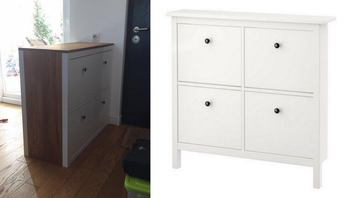 Double Sided Hemnes Shoe Storage