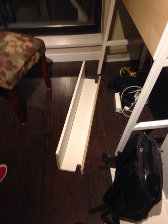 IKEA PS 2014 desk wire management