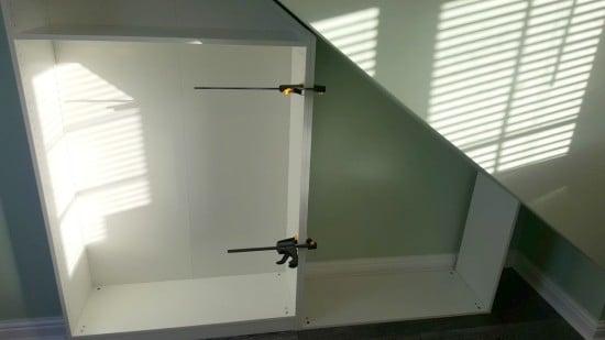 Measuring the frames against eaves