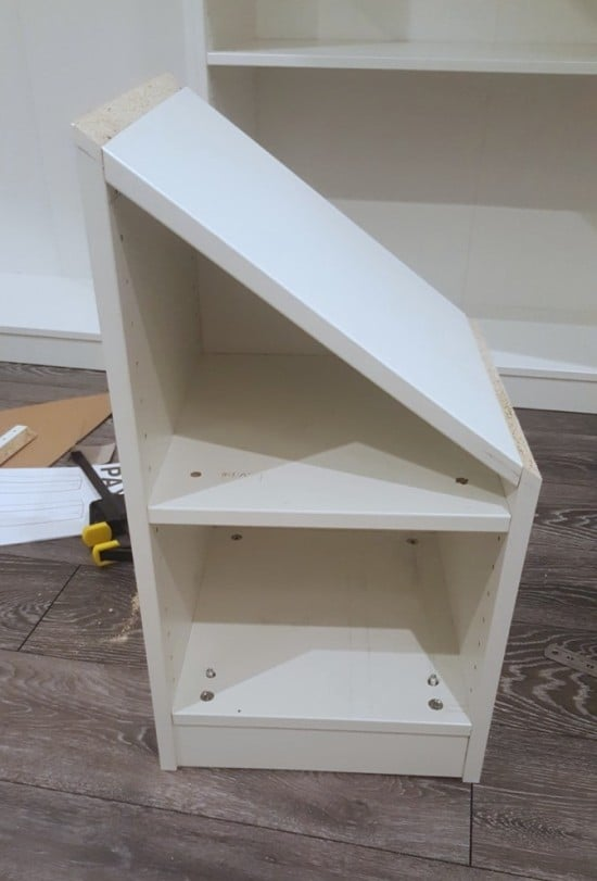 construct the small shelf