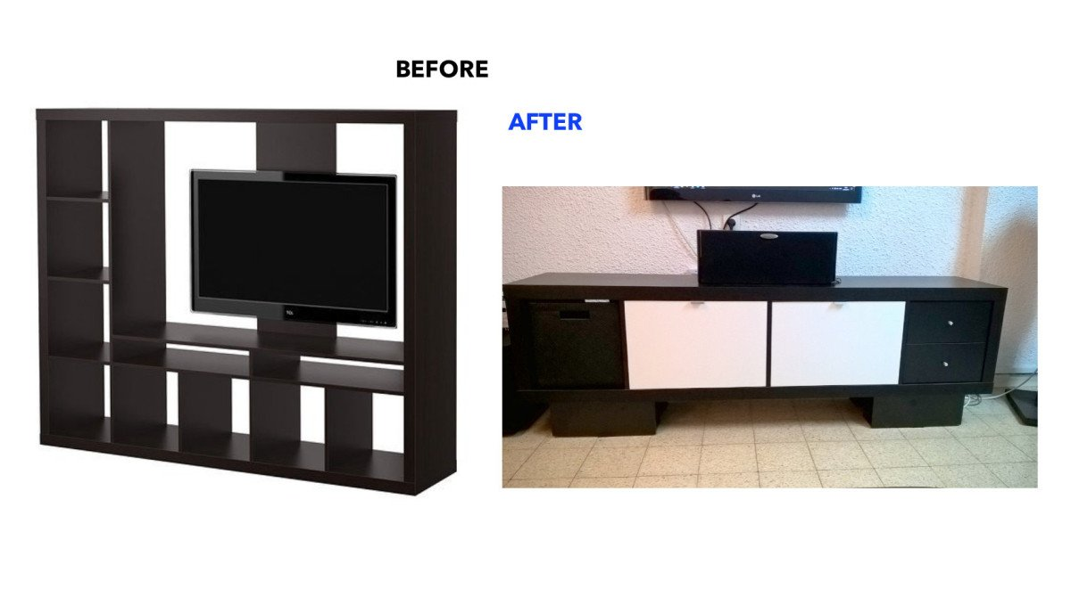 Tv Media Furniture Archives Ikea Hackers # Table Tv Avec Porte Cd