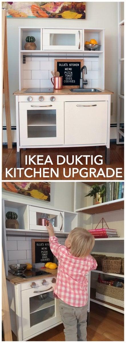 IKEA hack DUKTIG kitchen upgrade