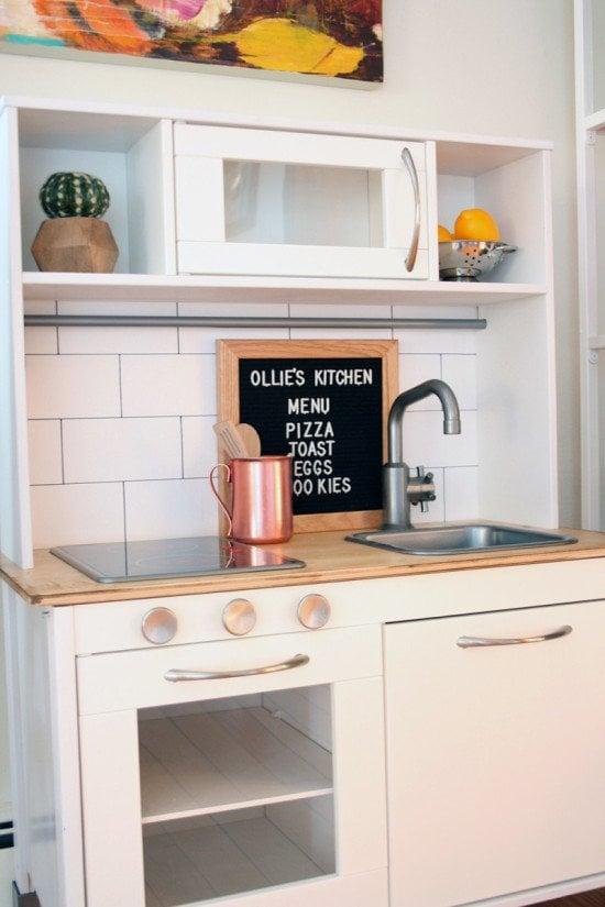 IKEA hack DUKTIG kitchen makeover