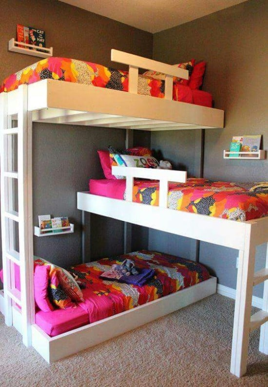Hackers Help: How to make this triple bunk bed""