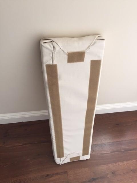Foam seat with Velcro