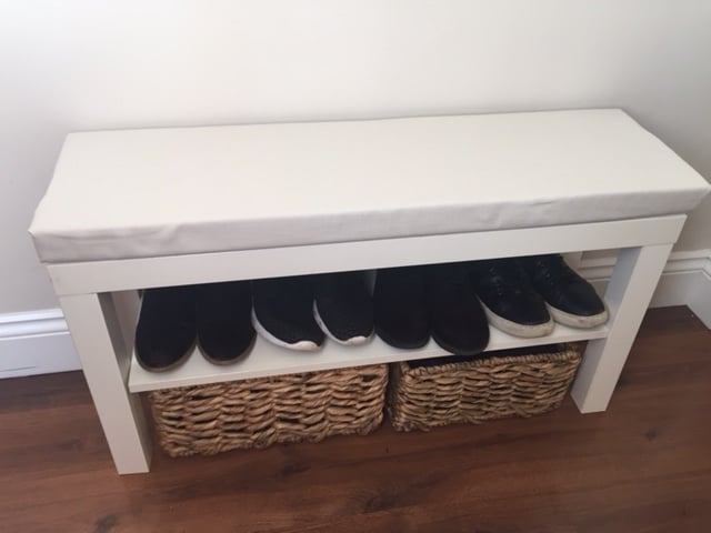 turn a 7 lack tv unit into a hallway bench ikea hackers. Black Bedroom Furniture Sets. Home Design Ideas