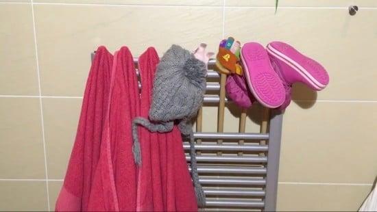 ladder towel rail extension hack