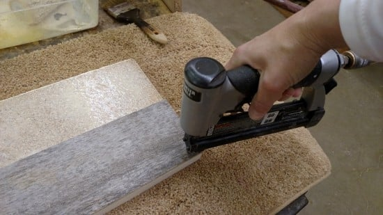 Glue and secure with brad nails