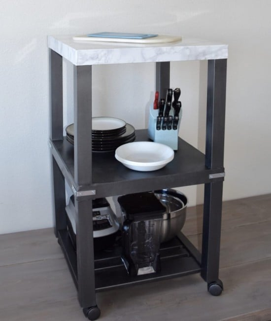 Small kitchen island from IKEA LACK side tables