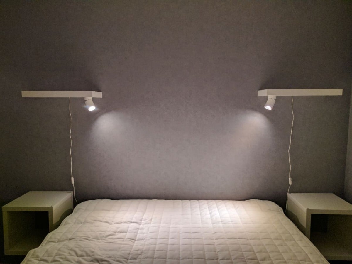 Minimalist Bedside Reading Lamps Ikea Hackers