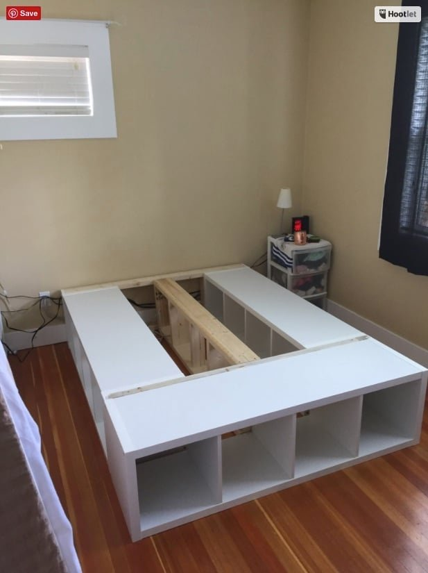 IKEA KALLAX Queen Storage Bed