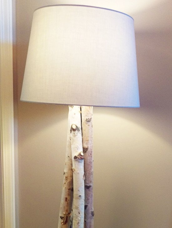 Beautiful Birch Branch Floor Lamp