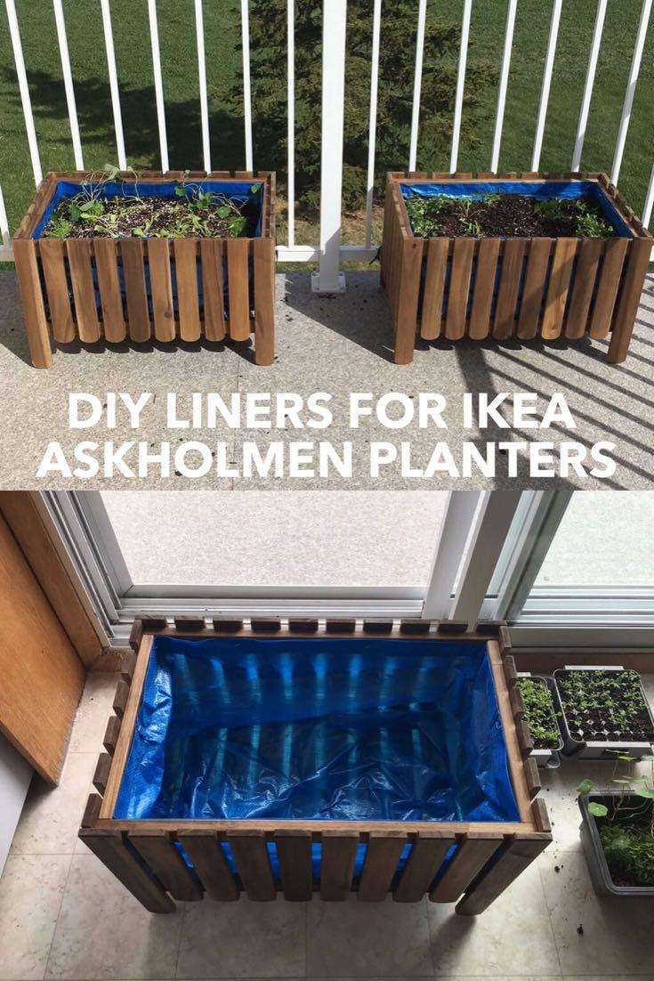 DIY Raised Bed Liner for Askholmen Planter - IKEA Hackers