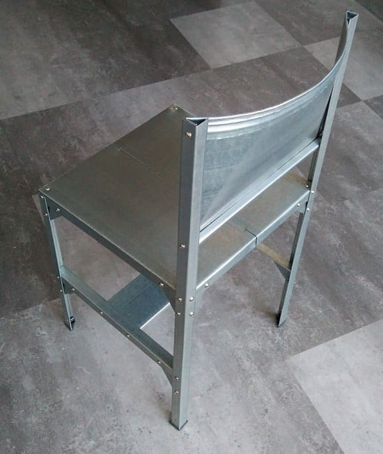 Building a chair from a Hyllis shelving unit