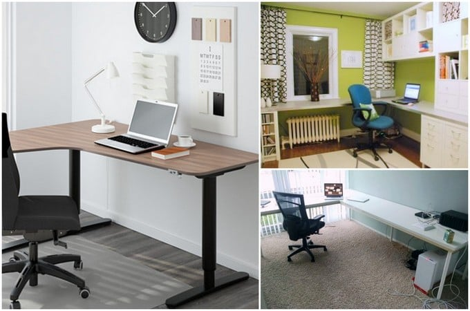 l shaped desk to boost productivity here are 6 ideas ikea hackers rh ikeahackers net ikea l shaped desk hack ikea l shaped desk hack