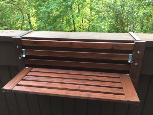 adjustable Over-the-Railing Outdoor Planter Shelves