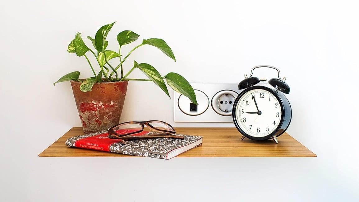 floating bamboo nightstand