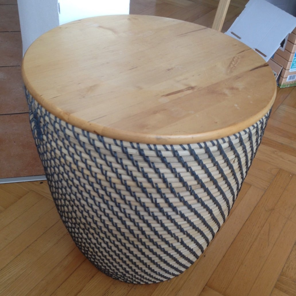Make a side table with storage in the blink of an eye - IKEA Hackers