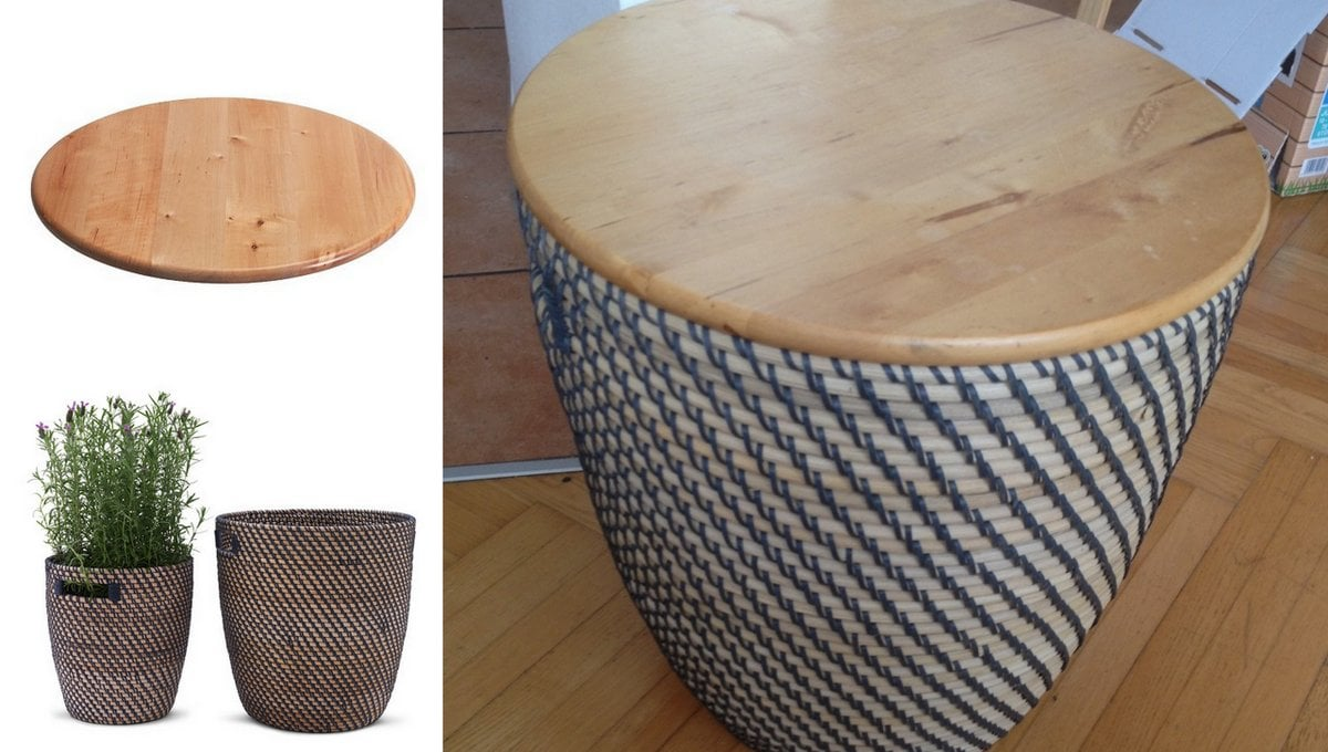 Make A Side Table With Storage In The Blink Of An Eye