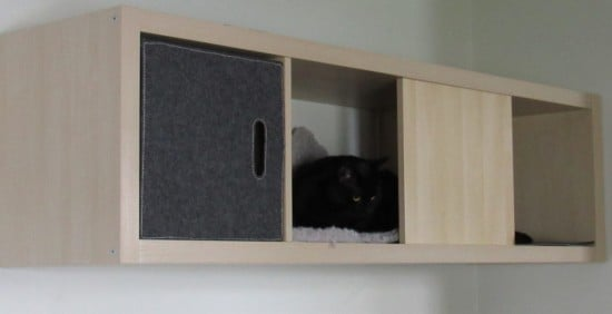 Wall mounted KALLAX cat house